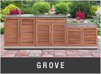 NewAge Grove Outdoor Kitchen Cabinets