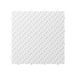 Gladiator GarageWorks White Tile Flooring (24-pack)