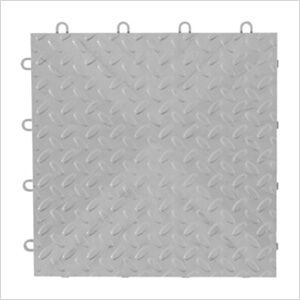 Silver Tile Flooring (4-Pack)