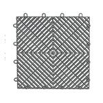 Gladiator GarageWorks Silver Drain Tile Flooring (4-Pack)