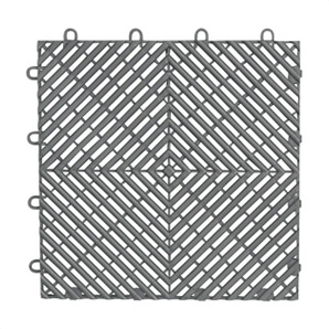 Silver Drain Tile Flooring (4-pack)
