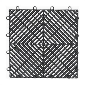 Charcoal Drain Tile Flooring (4-pack)
