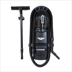GF-120 Black In-Wall Garage Vacuum (Hard-Wired)