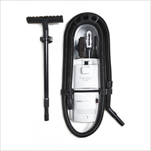 GF-120 White In-Wall Garage Vacuum (Hard-Wired)