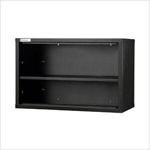 Black 1 Shelf Short Wall Unit