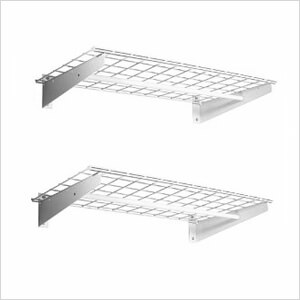 Wall Shelves with Clothing Rod (2-Pack)