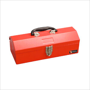 14-Inch Portable Metal Toolbox (Red)