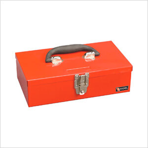 11-Inch Portable Metal Toolbox (Red)