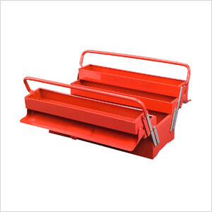 5-Tray Cantilever Metal Toolbox (Red)