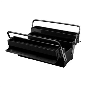 5-Tray Cantilever Metal Toolbox (Black)