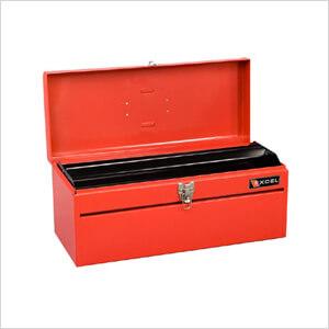 20-Inch Portable Metal Toolbox w Tray