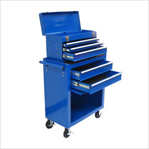2-Piece Blue Roller Metal Tool Chest