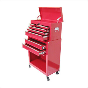 8-Drawer Roller Cabinet Tool Chest (Red)