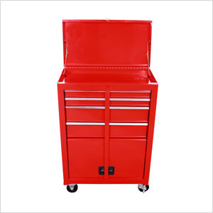 Red Roller Metal Tool Chest