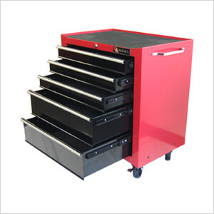 5-Drawer Red Roller Metal Tool Chest