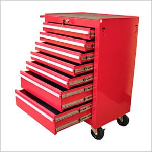 7-Drawer Red Roller Metal Cabinet