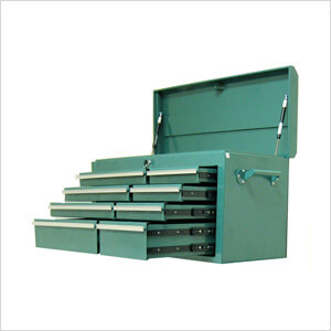 8-Drawer Green Metal Tool Chest