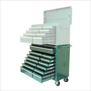 13-Drawer Green Roller Metal Cabinet