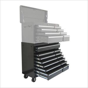 13-Drawer Black Roller Metal Cabinet