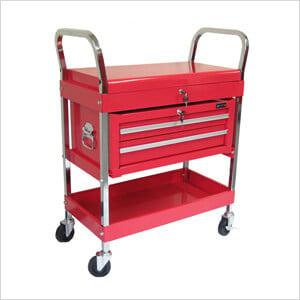2-Tray 2-Drawer Rolling Tool Cart