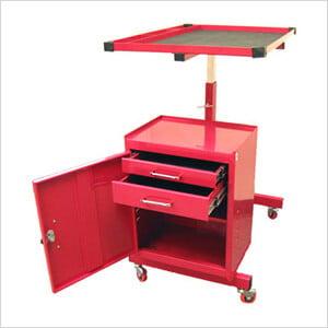 2-Drawer Rolling Metal Tool Cart