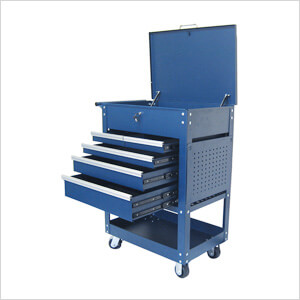 2-Tray 5-Drawer Rolling Tool Cart