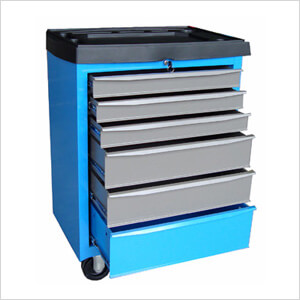 26-Inch Metal Roller Cabinet with Top Tray