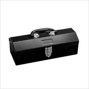 14-Inch Portable Metal Toolbox (Black)