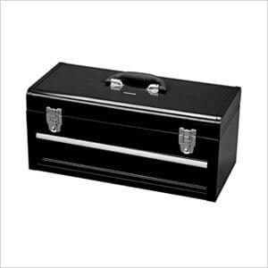 1-Drawer Portable Metal Toolbox (Black)