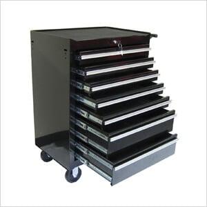 7-Drawer Black Roller Metal Cabinet