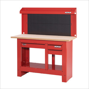 Pleasant 3 Drawer Workbench With Steel Backwall System Beatyapartments Chair Design Images Beatyapartmentscom