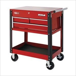 3-Drawer Red Metal Utility Cart & Waterloo UC310RD | Waterloo Red Utility Cart | 3-Drawer Utility Cart ...