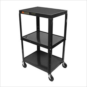 Height Adjustable Black A/V Cart