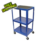 Luxor Height Adjustable Blue A/V Cart