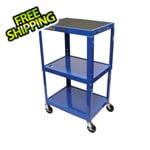 Luxor Height Adjustable Blue A/V Cart