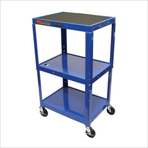 Height Adjustable Blue A/V Cart
