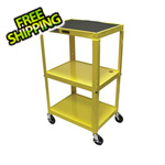 Luxor Height Adjustable Yellow A/V Cart