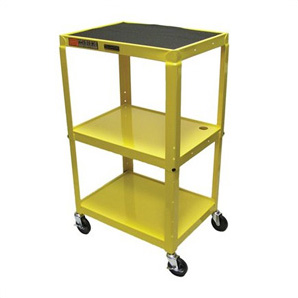 Height Adjustable Yellow A/v Cart