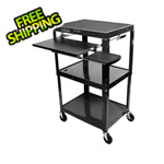 Luxor Height Adjustable A/V Cart with Pullout Tray
