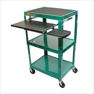 Height Adjustable A/V Cart with Pullout Tray