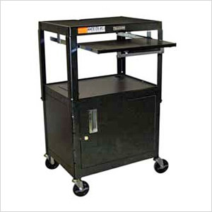 A/V Cart with Cabinet and Pullout Tray