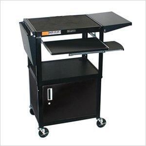 Steel A/V Cabinet with Drop Leaf Shelves