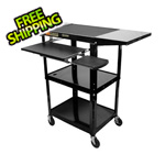 Luxor Height Adjustable Workstation in Black