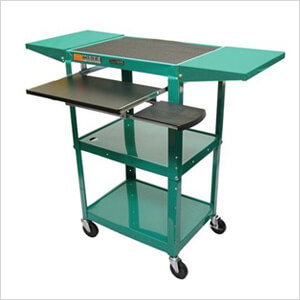 Height Adjustable Workstation in Green