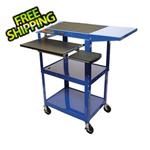 Luxor Height Adjustable Workstation in Blue