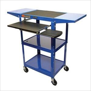 Height Adjustable Workstation in Blue