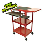 Luxor Height Adjustable Workstation in Red