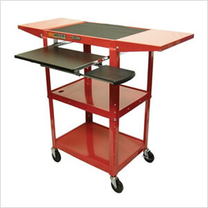Height Adjustable Workstation in Red