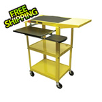 Luxor Height Adjustable Workstation in Yellow