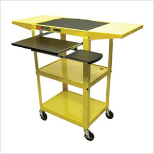 Height Adjustable Workstation in Yellow